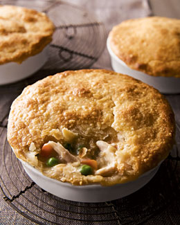 Six All-Natural Chicken Pot Pies