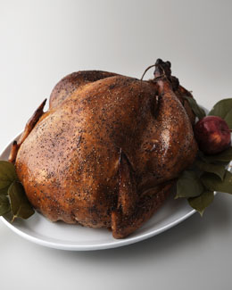 Smoked Turkey with Apple Cider Gravy