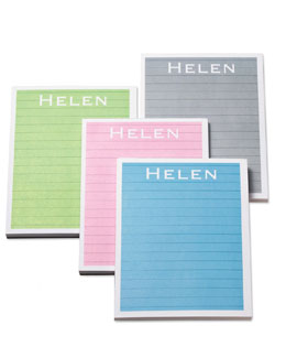 Personalized Color Notepads