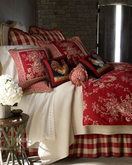 """French Country"" Bed Linens & Houndstooth Quilt Sets"