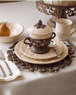GG Collection 20-Piece Ceramic Dinnerware Service