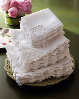 Crochet-Edge Napkins