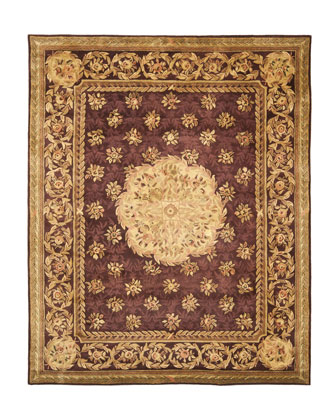 Empire Medallion Rug, 8' Round