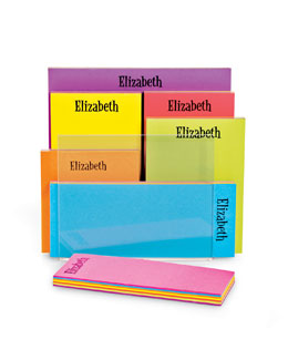 THE CHATSWORTH COLLECTION Personalized Rainbow Pad Set