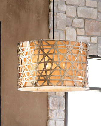 Large Basketweave Light
