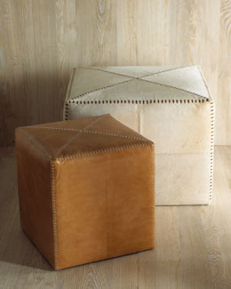 Jamie Young Leather & Hide Ottomans
