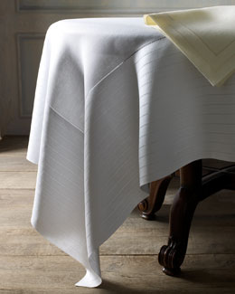 "SFERRA ""Abundance"" Hemstitched Table Linens"