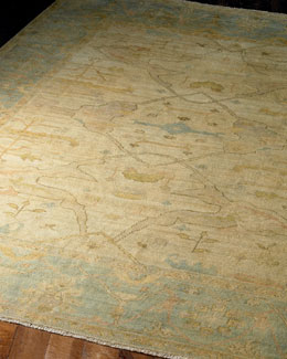 "Exquisite Rugs ""Ocean Light"" Oushak Rug"
