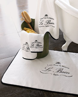 "Kassatex ""Le Bain"" Black-Trim Towels"