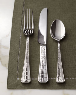 "Lauren Ralph Lauren Five-Piece ""Crocodile"" Flatware Place Setting"