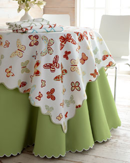 "Lulu DK for Matouk Butterfly, ""Bamboo Lattice"" & ""Savannah"" Table Linens"