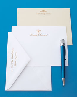 Carlson Craft Gold-Motif Cards & Envelopes