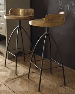 Arteriors Wood & Iron Stools