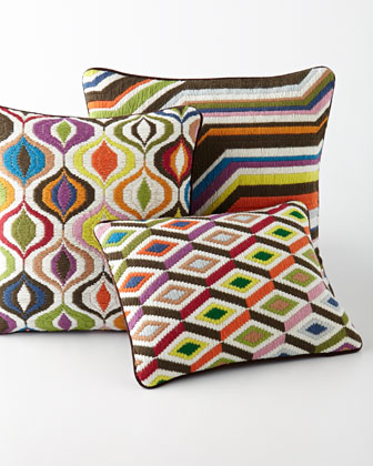 Bargello Diamond Pillow