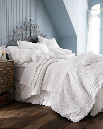 Two Standard Ruffled Pillowcases