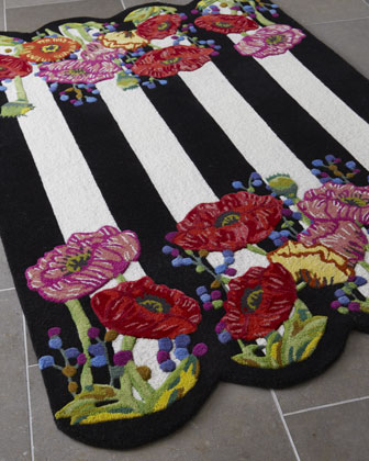 Poppy Fields Runner, 3' x 9'