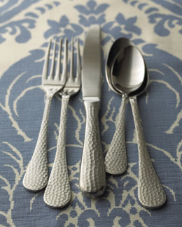 "Wallace 65-Piece ""Euro Hammered"" Flatware Service"