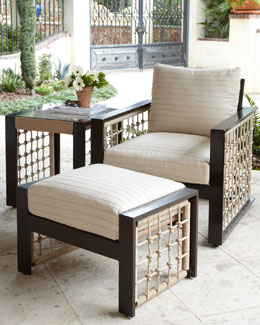 """Marina"" Outdoor Lounge Chair & Ottoman"