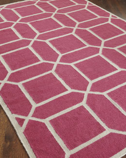 """Octagonal Maze"" Flatweave Rug"