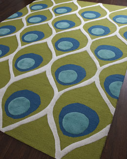 "Global Views ""Bold Peacock"" Rug"