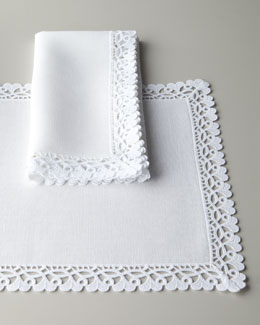 "Matouk ""Ricamo"" Table Linens"