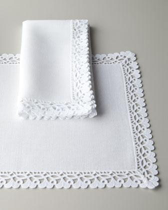 "SFERRA ""Plume Jacquard"" Table Linens - Horchow"