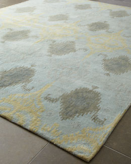 "Exquisite Rugs ""Ikat Blue Oushak"" Rug"