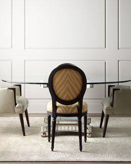 """Erlinda"" Dining Table and ""Gretna"" & ""Metro"" Chairs"