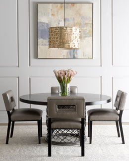"Bernhardt ""Rory"" Dining Table & ""Sue Ann"" Chair"