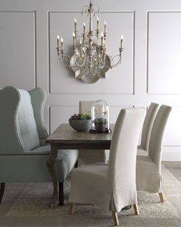"Haute House ""Liday"" Dining Table, ""Havana"" Chairs, & ""Corbin"" Banquette"