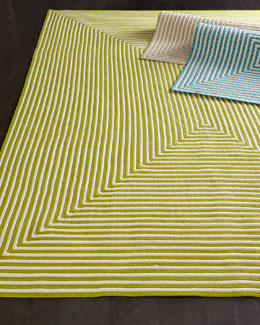 """Hideaway Stripe"" Indoor/Outdoor Rug"