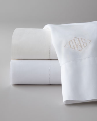 Full/Queen Flat Sheet, Monogrammed