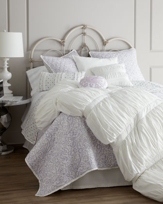 Diamond-Pattern Pillow with Ruffles, 12