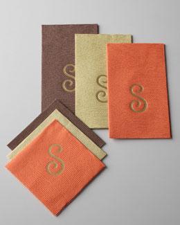 Monogrammed Lizard-Print Guest Towels & Napkins