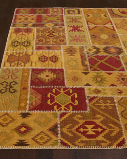 Exquisite Rugs Tonal Patchwork Rug