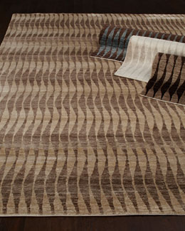 "Exquisite Rugs ""Concerted Waves"" Rug"