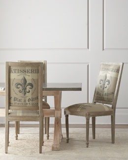 """Fowler"" Dining Table & ""Fleur-de-Lis"" Side Chair"