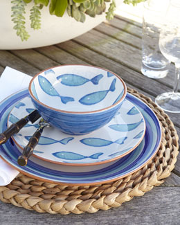 """Blue Fish"" Dinnerware"