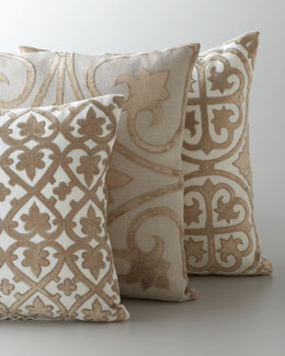 "Ivory & Taupe ""Venice"" Collection Pillows"