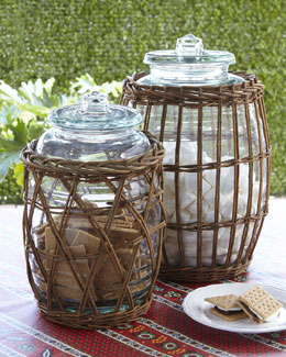 Park Hill Collections Willow-Wrapped Canisters