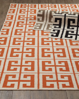 """Oran Greek Key"" Flatweave Rug"