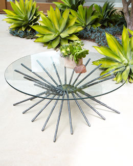 "PALECEK IMPORTS ""Starburst"" Coffee Table/Console"