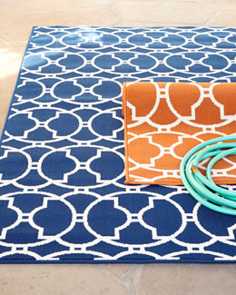 """Baja Circles"" Indoor/Outdoor Rug"