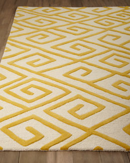 "Global Views ""Greek-Key Maze"" Rug"