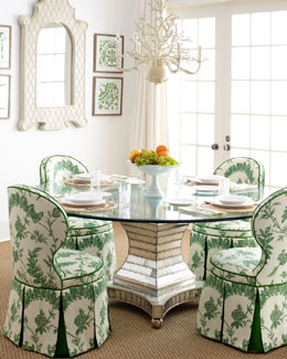 """Erlinda"" Dining Table & ""Garden"" Dining Chair"