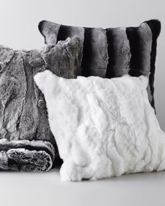Gray Rex Textured Pillow