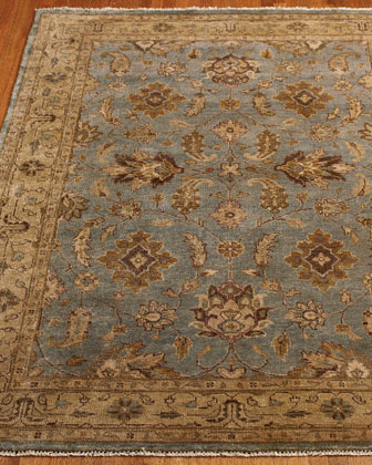 Blue & Chocolate Oushak Rug, 6' Round
