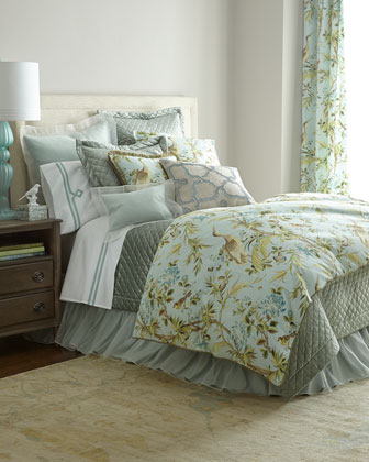 Queen Quilted Velvet Coverlet, 90