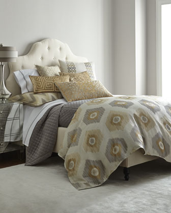 King Quilted Velvet Coverlet, 106