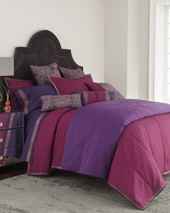King Pleated Coverlet, 104